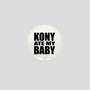 Kony Ate My Baby Mini Button