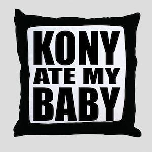 Kony Ate My Baby Throw Pillow