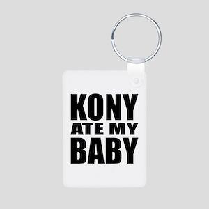 Kony Ate My Baby Aluminum Photo Keychain