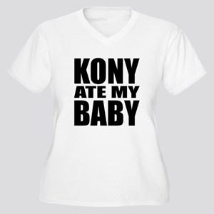 Kony Ate My Baby Women's Plus Size V-Neck T-Shirt