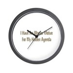 Ulterior Motive Wall Clock
