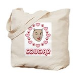 Cougar Hearts Tote Bag
