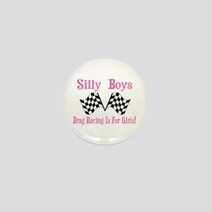 DRAG RACING IS FOR GIRLS Mini Button