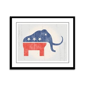 GOP Mammoth Logo Framed Panel Print