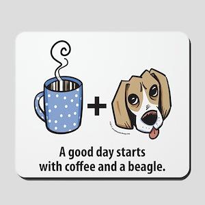 Coffee and a beagle Mousepad