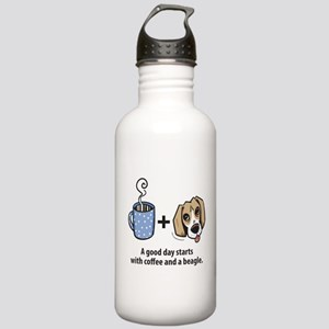 Coffee and a beagle Stainless Water Bottle 1.0L
