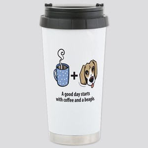 Coffee and a beagle Stainless Steel Travel Mug