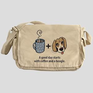 Coffee and a beagle Messenger Bag