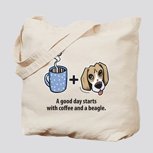 Coffee and a beagle Tote Bag