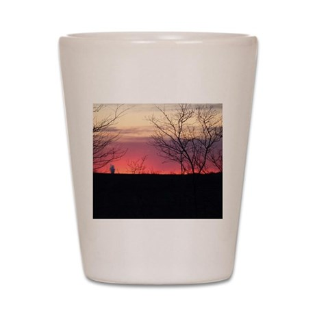 As the sunsets Shot Glass