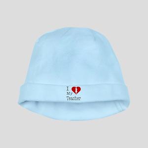 I Love My Teacher baby hat
