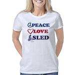 Peace-Love-Sled Women's Classic T-Shirt