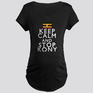 Stay Calm and Stop Kony Maternity Dark T-Shirt