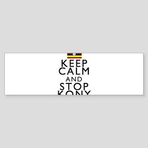 Stay Calm and Stop Kony Sticker (Bumper)