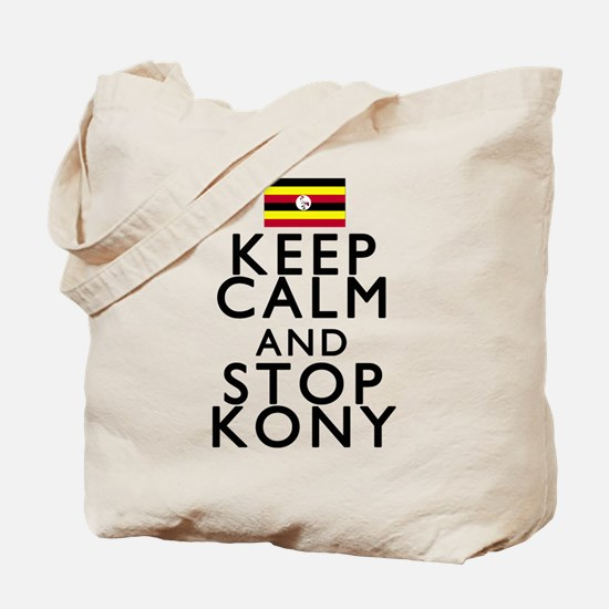 Stay Calm and Stop Kony Tote Bag