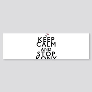 Keep Calm and Stop Kony Sticker (Bumper)