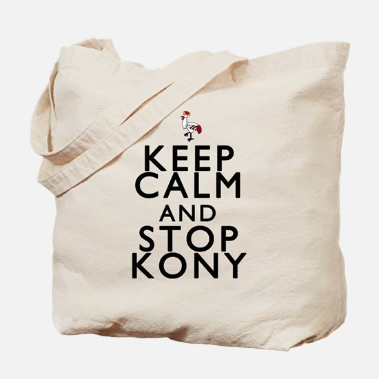 Keep Calm and Stop Kony Tote Bag