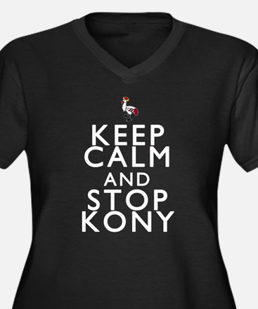 Keep Calm and Stop Kony Women's Plus Size V-Neck D