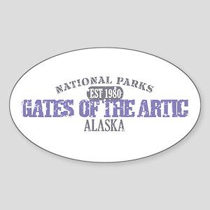 Gates Of The Artic Alaska Sticker (Oval)