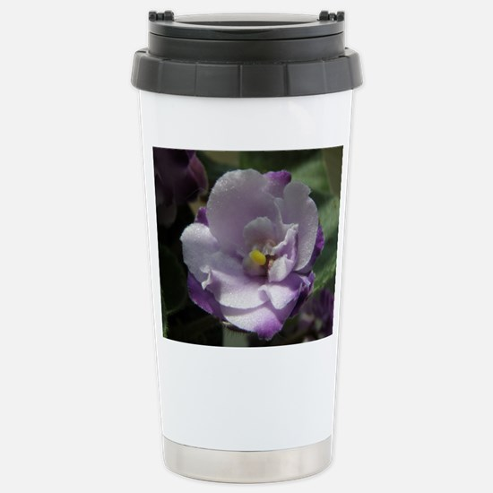 African Violet #02 Stainless Steel Travel Mug