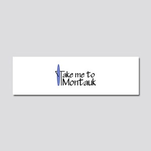 Take me to Montauk Car Magnet 10 x 3