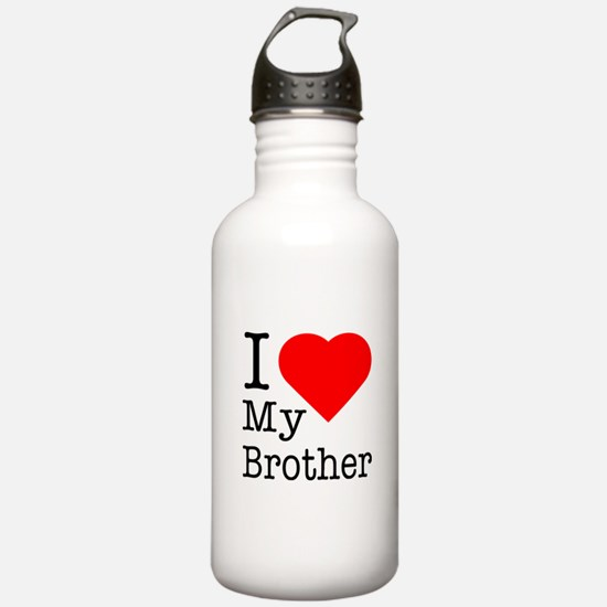 I Love My Brother Water Bottle