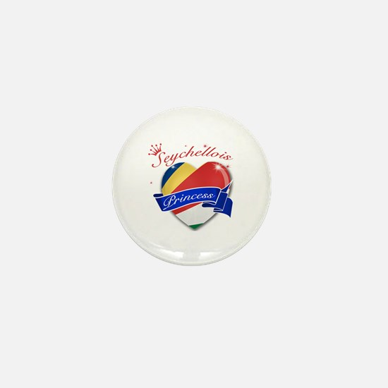 Seychellois Princess Mini Button