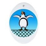 Penguin1 Ornament (Oval)