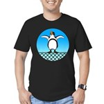 Penguin1 Men's Fitted T-Shirt (dark)