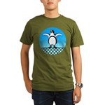 Penguin1 Organic Men's T-Shirt (dark)