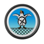 Penguin1 Large Wall Clock