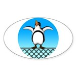 Penguin1 Sticker (Oval 10 pk)