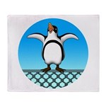 Penguin1 Throw Blanket