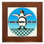Penguin2 Framed Tile