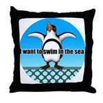 Penguin2 Throw Pillow