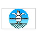 Penguin2 Sticker (Rectangle 50 pk)