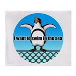 Penguin2 Throw Blanket
