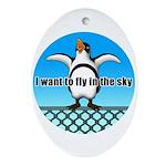 Penguin3 Ornament (Oval)