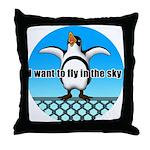 Penguin3 Throw Pillow