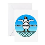 Penguin3 Greeting Cards (Pk of 10)