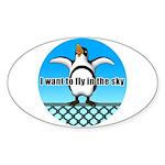 Penguin3 Sticker (Oval 10 pk)