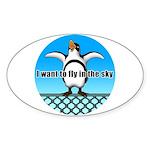 Penguin3 Sticker (Oval 50 pk)