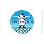 Penguin3 Sticker (Rectangle)