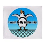 Penguin3 Throw Blanket