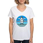 Penguin3 Women's V-Neck T-Shirt