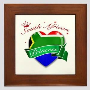 South African Princess Framed Tile