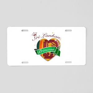 Sri Lankan Princess Aluminum License Plate