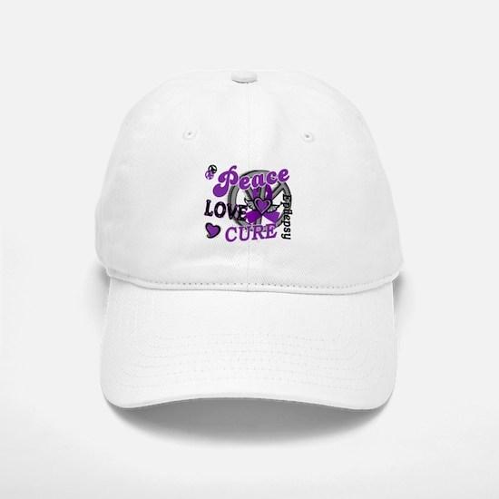 Peace Love Cure 2 Epilepsy Baseball Baseball Cap