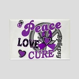Peace Love Cure 2 Epilepsy Rectangle Magnet