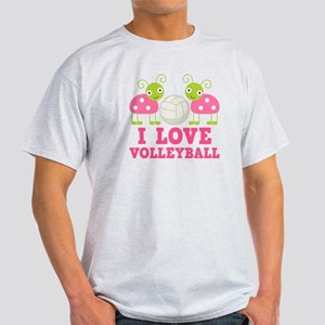 I Love Volleyball Ladybug Light T-Shirt